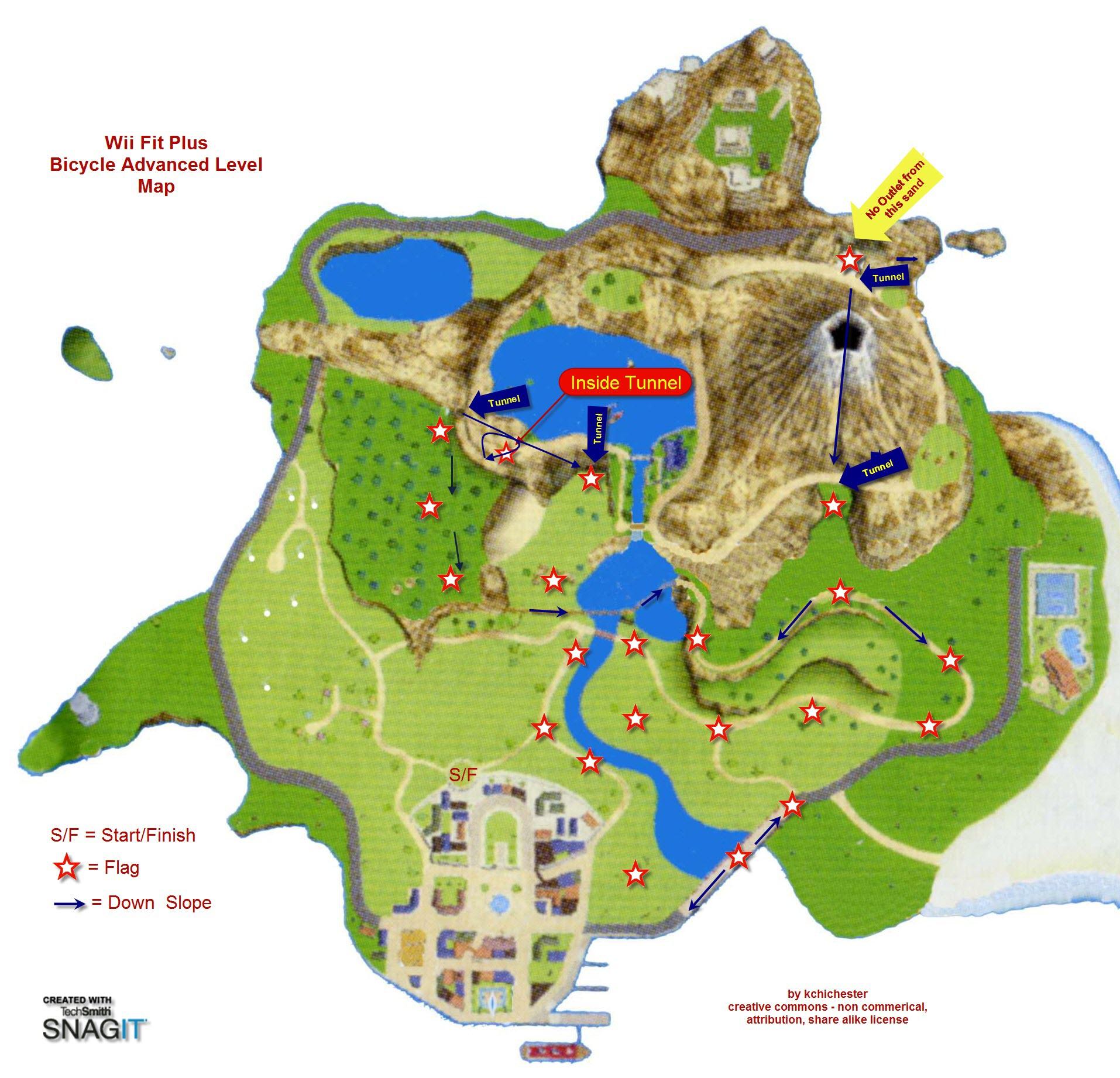 kchichester wii cycling maps